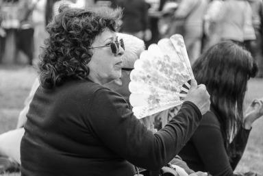 Frau auf den Fiestas Costumbristas (© Lena Labryga / Weonlandia)